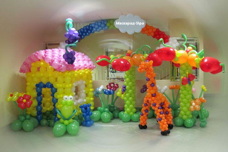 Украшение шарами своими руками для детей 305