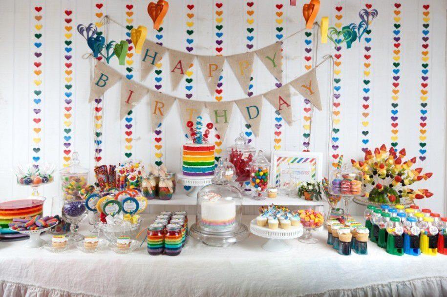 Сладкий стол на день рождения ребенка своими руками